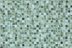 Kockás,kőhatású-kőmintás,különleges motívumos,kék,türkiz,zöld,lemosható,papír tapéta