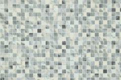 Kockás,kőhatású-kőmintás,különleges motívumos,szürke,vajszín,lemosható,papír tapéta