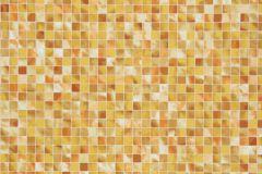 Kockás,kőhatású-kőmintás,különleges motívumos,bézs-drapp,fehér,sárga,lemosható,papír tapéta